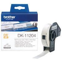 Brother labelprinter tape: Multifunctionele labels papier 17 x 54 mm - Wit