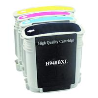 MediaRange inktcartridge: ink cartridges, for HP® Nr. 940 series, with chip, Set 4 - Zwart, Cyaan, Magenta, Geel