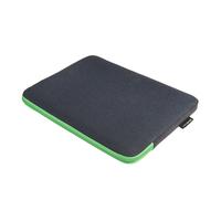 """Gecko Universal Zipper Sleeve Laptop 11""""/12"""", Groen Laptoptas - Zwart, Groen"""