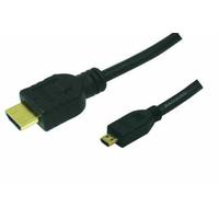 LogiLink HDMI kabel: 1.5m HDMI to HDMI Micro - M/M - Zwart