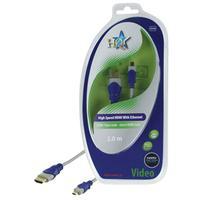 HQ HDMI kabel: 2m HDMI/Micro HDMI - Blauw, Grijs