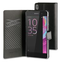 Muvit mobile phone case: Folio Stand Black For Xperia Xa - Zwart