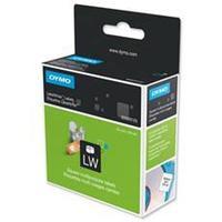 DYMO etiket: Square multipurpose labels - Zwart, Wit