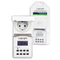 LogiLight netvoeding: Digital Outdoor Time Switch, 230VAC, 50Hz, 16 A, 3600W, White