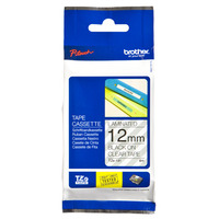 Brother labelprinter tape: TZe-131 - 12 mm zwart op transparante tape gelamineerd (8 m)