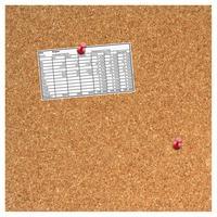 Desq 35.5x35.5x1.7cm, 5 punaises Planningsysteem - Bruin