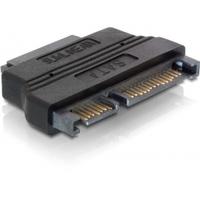 DeLOCK kabel adapter: SATA 22-pin / Slim SATA Adapter - Zwart