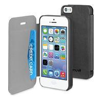 Muvit mobile phone case: iPhone 5(S) Easy folio case Black - Zwart