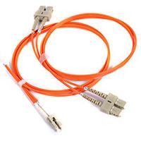 PeakOptical MTP/PC(F)-4xLC/PC, OM3, 3m Fiber optic kabel