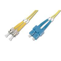 Digitus fiber optic kabel: ST/SC, 10 m - Geel