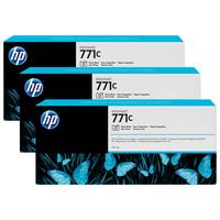 HP inktcartridge: 771C zwarte DesignJet fotoinktcartridges, 775 ml, 3-pack - Foto zwart