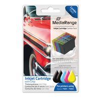 MediaRange inktcartridge: MRET181 - Zwart, Cyaan, Magenta, Geel