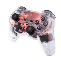 Bigben Interactive game controller: Officieel gelicenseerde draadloze PS3 controller - transparant met rode LED .....