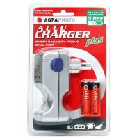 AgfaPhoto oplader: AccuCharger plus - Zilver