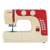 Janome naaimachine: Color 57 - Beige, Rood