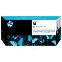 HP printkop: 81 licht-cyaan DesignJet printkop en printkopreiniger voor kleurstofinkt - Lichtyaan