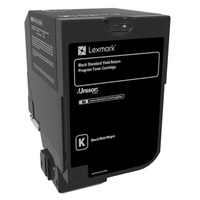 Lexmark cartridge: 7K zwarte retourprogramma tonercartridge (CS72x, CX725)