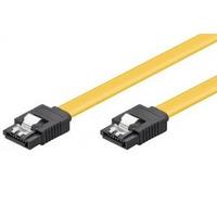 Wentronic SATA L M/M 1m ATA kabel - Zwart, Geel