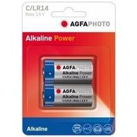 AgfaPhoto batterij: 2 x C, Alkaline, 1.5V, LR14 - Blauw, Grijs