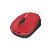 Microsoft computermuis: WMM 3500 - Zwart, Rood