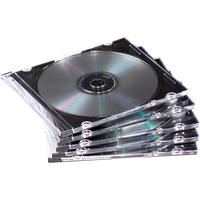 Fellowes : 25x Slimline CD doosjes - Zwart, Doorschijnend