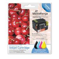 MediaRange inktcartridge: 1x BK 33ml & 1x C/M/Y 13ml - Zwart, Cyaan, Magenta, Geel