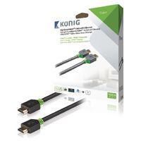 König HDMI kabel: KNV34000E100 - Antraciet