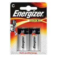 Energizer batterij: MAX 2 batterijen C - Zwart, Zilver