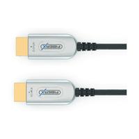 FiberX HDMI Type A, HDMI Type A, 4K UltraHD 2160p (4096x2160) @60Hz, 18Gbps HDMI kabel - Zwart,Grijs