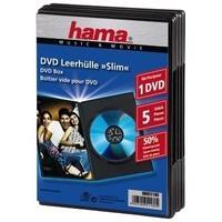 Hama 04751180 DVD Slim Box - 5 stuks / Zwart