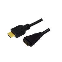 LogiLink HDMI kabel: HDMI - HDMI, 1.0m - Zwart