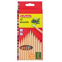 Herlitz set: coloured pencils natural 12 pieces FSC - Hout