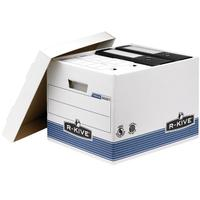 Fellowes archiefdoos: R-Kive Prima Standaard Opbergdoos - Blauw, Wit