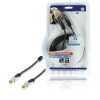 HQ USB kabel: 2.5m USB 3.0 A/A