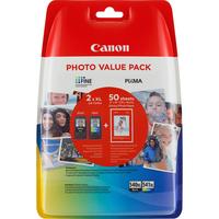 Canon inktcartridge: PG-540XL/CL541XL - Zwart, Cyaan, Geel, Magenta