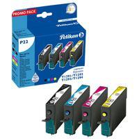 Pelikan inktcartridge: P22 - Zwart, Cyaan, Magenta, Geel