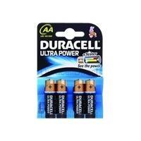 Duracell batterij: Ultra Power AA 4 Pack - Zwart