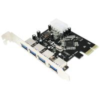 LogiLink interfaceadapter: PCI Express Interface Card USB 3.0 4x - Zwart