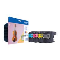 Brother inktcartridge: LC-127XLVALBPDR - Zwart, Cyaan, Magenta, Geel