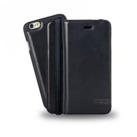 Azuri mobile phone case: Luxe wallet met verwijderbare magnetische cover voor de iPhone 6 (zwart)