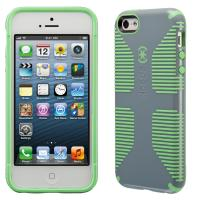 Speck apparatuurtas: iPhone 5 / 5s / SE CandyShell Grip (Nickel Grey / Sweet Mint Green)