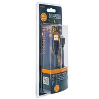 Schwaiger USB kabel: LK015M533 - Zwart