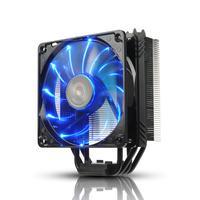 Enermax Hardware koeling: ETS-T40Fit air cooler - 200W TDP, 4 pin PWM, 460g - Aluminium, Zwart