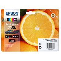 Epson inktcartridge: Multipack 5-colours 33XL Claria Premium Ink - Zwart, Cyaan, Magenta, Foto zwart, Geel