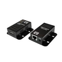 LogiLink USB 2.0 Cat.5 Extender, 50m Max, 1-Port, PoE Kabel adapter - Zwart