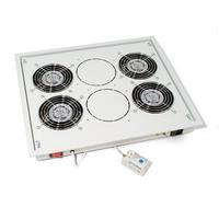 """Equip rack toebehoren: 48.26 cm (19 """") Fan Unit, 2 Active Ventilators, 2U, Black - Zwart"""