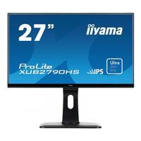 """Iiyama monitor: ProLite 27"""" monitor met een IPS panel en ultra vlakke voorkant - Zwart"""