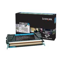 Lexmark toner: Toner Cartridge X 748 DE/DTE, Cyan, 10000 Pages - Cyaan