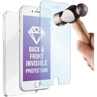 Muvit mobile phone case: Screen protector Tempered Glass en cover voor Apple iPhone 6 Plus/6S Plus - Wit