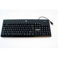 HP toetsenbord: standard USB Windows 8 keyboard (Jack Black color) International English - Zwart, QWERTY